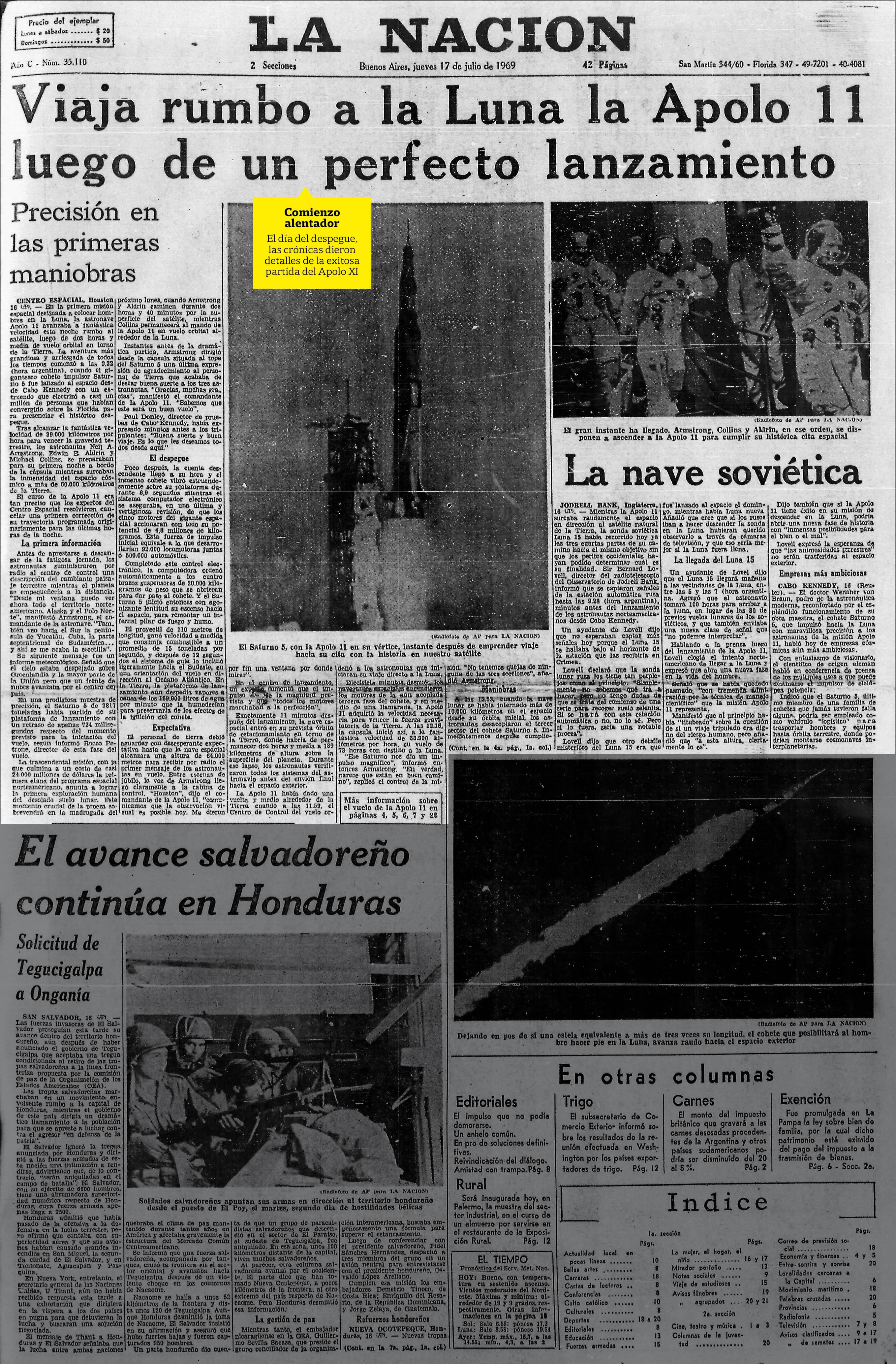 La decepción argentina: el despegue no se vio en TV, porque